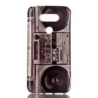 Gélový obal pre mobil LG G5 - retro radio