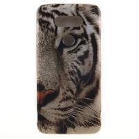 Softy gélový obal pre mobil LG G5 - biely tygr