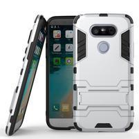 Odolný kryt pre mobil LG G5 - strieborny