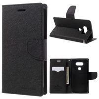 Goos stylové PU kožené puzdro pre LG G5 - čierne
