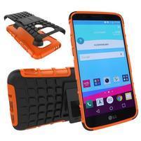 Outdoor odolný obal pre mobil LG G5 - oranžový