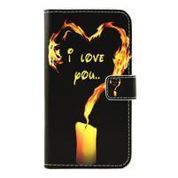puzdro pre mobil LG G5 - ohnivá láska