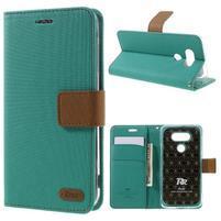 Diary PU kožené pouzdro na mobil LG G5 - zelené