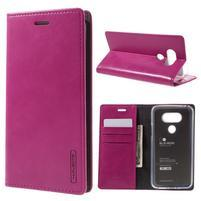 Luxury PU kožené puzdro pre mobil LG G5 - rose