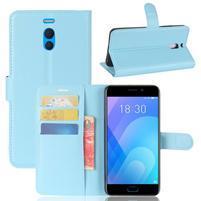 Litchi PU kožené puzdro na Meizu M6 Note - modré