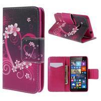 Peňaženkové puzdro Microsoft Lumia 535 - srdca