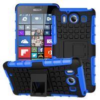 Outdoor odolný kryt pre mobil Microsoft Lumia 950 - modrý