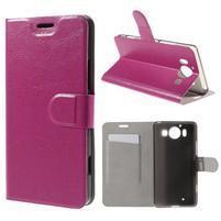 Horse PU kožené puzdro pre mobil Microsoft Lumia 950 - rose