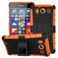 Outdoor odolný kryt pre mobil Microsoft Lumia 950 - oranžový