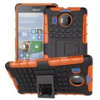 Odolný outdoor obal na mobil Microsoft Lumia 950 XL - oranžový