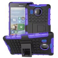 Odolný outdoor obal na mobil Microsoft Lumia 950 XL - fialový