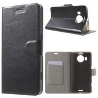 Horse Peňaženkové puzdro pre Microsoft Lumia 950 XL - čierne