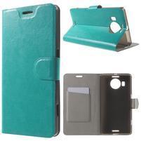 Horse Peňaženkové puzdro pre Microsoft Lumia 950 XL - modré