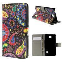 Peňaženkové puzdro na Huawei Y635 - farebné kruhy