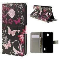 Peňaženkové puzdro na Huawei Y635 - motýlikové