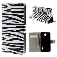 Peňaženkové puzdro na Huawei Y635 - zebra