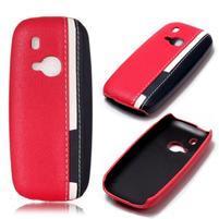 Color PU kožený/plastový obal na Nokia 3310 - rose