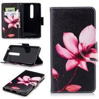 Emotive PU kožené puzdro na Nokia 6.1 - kvetina