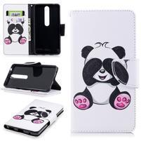 Emotive PU kožené puzdro na Nokia 6.1 - panda