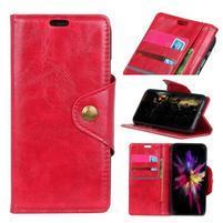 Retro PU kožené puzdro na Nokia 6.1 - červené