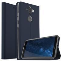 Stand Luxury PU kožené klopové puzdro na Nokia 8 Sirocco a Nokia 9 - tmavomodré