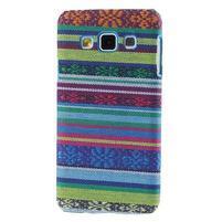 Obal potažený látkou pre Samsung Galaxy A3    - mix barev I