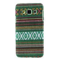 Obal potažený látkou pre Samsung Galaxy A3    - zelený