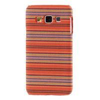 Obal potažený látkou na Samsung Galaxy A3 - oranžový