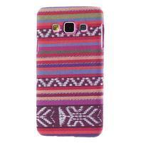 Obal potažený látkou pre Samsung Galaxy A3    - rose