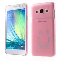 Plastový obal na Samsung Galaxy A3 - růžový
