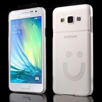Plastový obal na Samsung Galaxy A3 - biely
