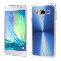 Metalický plastový obal na Samsung Galaxy A3 - modrý