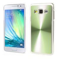 Metalický plastový obal na Samsung Galaxy A3 - zelený