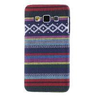 Obal potažený látkou pre Samsung Galaxy A3    - mix barev II