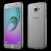 Gélový obal 2v1 pro zadní kryt a displej pre Samsung Galaxy A5 (2016) - šedý