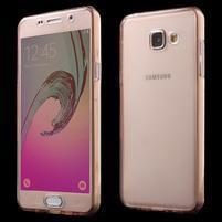 Gélový obal 2v1 pro zadní kryt a displej pre Samsung Galaxy A5 (2016) - rose gold