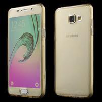 Gelový obal 2v1 pro zadní kryt a displej na Samsung Galaxy A5 (2016) - zlatý