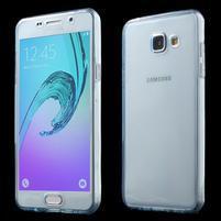 Gelový obal 2v1 pro zadní kryt a displej na Samsung Galaxy A5 (2016) - modrý