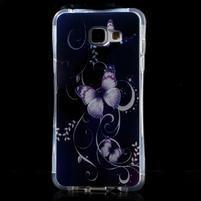 Tvarovaný gelový obal na Samsung Galaxy A5 (2016) - motýlci