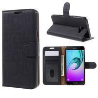 Cloth peňaženkové puzdro pre Samsung Galaxy A5 (2016) - čierne