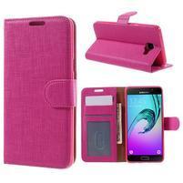 Cloth peňaženkové puzdro pre Samsung Galaxy A5 (2016) - rose