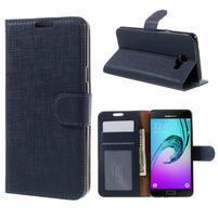 Cloth peněženkové pouzdro na Samsung Galaxy A5 (2016) - tmavěmodré