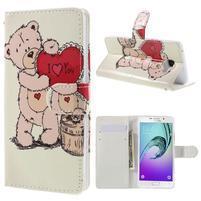 Štýlové puzdro pre mobil Samsung Galaxy A5 (2016) - zamilovaný medvídek