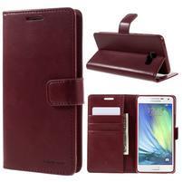 Luxusný PU kožené puzdro pre mobil Samsung Galaxy A5 (2016) - vínové
