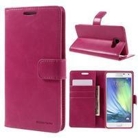 Luxusný PU kožené puzdro pre mobil Samsung Galaxy A5 (2016) - rose