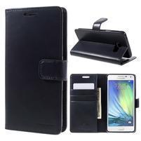 Luxusný PU kožené puzdro pre mobil Samsung Galaxy A5 (2016) - tmavomodré