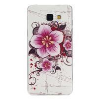 Ultratenký gelový slim obal na Samsung Galaxy A5 (2016) - květ