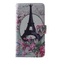 Koženkové pouzdro na Samsung Galaxy A5 (2016) - Eiffelova věž