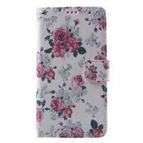 Koženkové puzdro pre Samsung Galaxy A5 (2016) - kvety