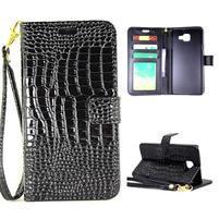 Croco peňaženkové puzdro Samsung Galaxy A5 (2016) - čierne